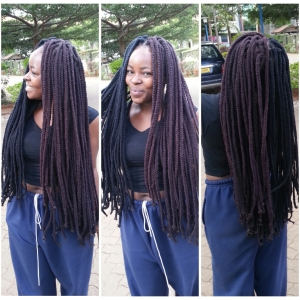Crochet Yarn Braids : DIY: CROCHET YARN BRAIDS ON NATURAL HAIR - FINE IGBO GIRL